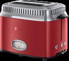 Russell Hobbs Retro Ribbon - Toaster - Edelstahl - Rot