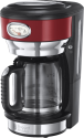 Russell Hobbs Retro Ribbon - Verre-Cafetiére - 1.25 l - Rouge