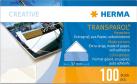 HERMA Transparol - Coins-photos, format géant, par paire - 100 pièces - Transparente