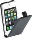 VIVANCO 35416 - Klapptasche - Für iPhone 4/4s - Schwarz