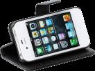 VIVANCO 35418 - Libro tascabile pattina - Per iPhone 4/4S - Nero