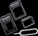 vivanco Set adaptateur SIM universel avec aiguille de carte SIM