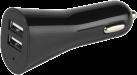 VIVANCO Car Charger USB Dual 3.4 A - KFZ Ladegerät - 2 x USB - Schwarz