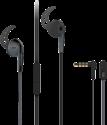 VIVANCO Sport-Ohrhörer mit Mikrofon, schwarz