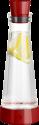 emsa FLOW Slim Friends - Karaffe mit Kühlstation - 1 l - Rot/Transparent