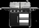 tepro Buffalo - barbecue combinato- termometro sul coperchio- nero/acciaio inox