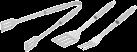 tepro Edelstahl Grillbesteck - 3-teilig - Silber
