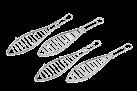 tepro Fischbräter set - 4-teilig - Silber