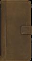SCUTES DELUXE Booklet - Schutzhülle - Für iPhone 6 Plus, 6s Plus, 7 Plus - Bestehend aus echtem Leder - Braun
