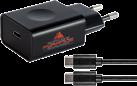 SOFTWARE PYRAMIDE Netzteil - Für Nintendo Switch - Mit Ladekabel Typ-C auf Typ-C - Schwarz