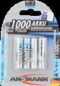 ANSMANN Energy Micro Batterie 4x AAA NiMH 950 mAh