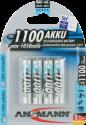 ANSMANN Micro Batterie 4 x AAA NiMH 1100 mAh