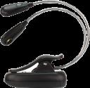 ANSMANN Twinflex - Lampe de lecture - Avec aimant de retenue et clip de retenue - Noir