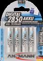 ANSMANN Digital Batterie 4 x AA NiMH 2850 mAh