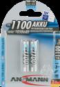 ANSMANN Micro Batterie 2 x AAA NiMH 1100 mAh