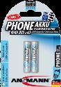 ANSMANN Energy Phone Batterie 2 x AAA NiMH, 800 mAh
