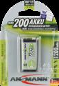 ANSMANN maxE Batterie 9V NiMH 200 mAh - 8.4V - Sehr geringe Selbstentladung durch maxE Technologie