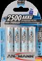 ANSMANN Batterie 4 x AA NiMH 2500 mAh