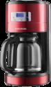 GRUNDIG KM 6330 - Kaffeemaschine - Retro-Design - Rot / Edelstahl