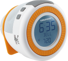 GRUNDIG Sonoclock 230, weiss / orange