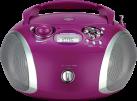 GRUNDIG RCD 1445 USB - Radio CD - Tuner UKW - Violet / argent