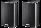 Magnat Needle Alu Sat - 2-Wege Satelliten-Lautsprecherpaar - Stabiles Aluminiumgehäuse - Schwarz