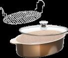 Genius Cerafit Granit-Grand-Edition - Casserole Set (3 pcs.) - Revêtement céramique - Brun