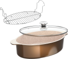 Genius Cerafit Granit-Grand-Edition - Casseruola Set (3 pz.) - Rivestimento ceramico - Marrone