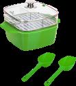 Genius Ceravital - Sistema di cottura a vapore e arrosto (10 pz.) - Ø 24 cm - Verde