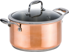 Genius Copperfit Emotion - Casseruola Set (2 pz.) -  Ø 24 cm - Rame
