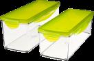 Genius Nicer Dicer Plus - Auffangbehälter Set (4tlg.) - Mit Sicherheitsverschlüssen - Grün/Transparent