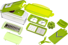 Genius Nicer Dicer Plus - Set grattuge - 12 pezzi - verde