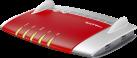 AVM FRITZ!Box 5490 - FTTH-Gigabit WLAN-Modem - 1300 MB/s - Rot/Silber