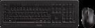 CHERRY DW 5100 - Tastatur und Maus - kabellos - Schwarz