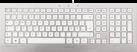 CHERRY STRAIT - Tastatur - 5 HotKeys - Weiss / Silber