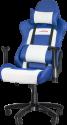 SPEEDLINK Regger - PC-Gaming-optimierter Schreibtischstuhl - 360° drehbar - Blau/Weiss