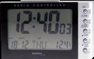 technoline WT 188 - Orologio radio - Indicatore di temperatura interna - Nero/Argento