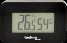 technoline WS 7009 - termometro - visualizzazione della temperatura - nero