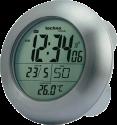 technoline WT3000 - Orologio radio da parete - Ideale per il bagno - Argento