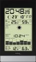 technoline WS9050 - Stazione meteo - Orologio radio - nero / argento