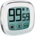 technoline KT 400 - minuteur - numérique - blanc / argent