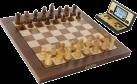 MILLENNIUM Chess Genius Exclusive - Ordinateurs d'échecs en bois véritable - Avec reconnaissance de personnages - Brun