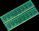 Intenso DDR4 Desktop Pro - Arbeitsspeicher - 2x 4 GB (DDR4 / 2400 MHz) - Grün/Schwarz