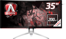 AOC Gaming AGON series AG352QCX - Monitor LCD - 35 / 88.9 cm - Nero/Argento