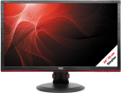 AOC G2460PF - Gaming-Monitor - Display 24 / 61 cm - Schwarz/Rot