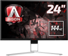 AOC AGON AG241QX - Gaming Monitor - Display 24 / 61 cm - Schwarz/Rot