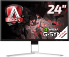 AOC AGON AG241QG - Gaming-Monitor - Display 24 / 61 cm - Schwarz/Rot