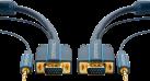 clicktronic VGA und Audio-Verbindungskabel - 1 m - Blau