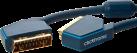 clicktronic Câble SCART - 1.5 m - Noir