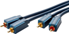 clicktronic Câble-Audio-Stereo - 2 m - Noir